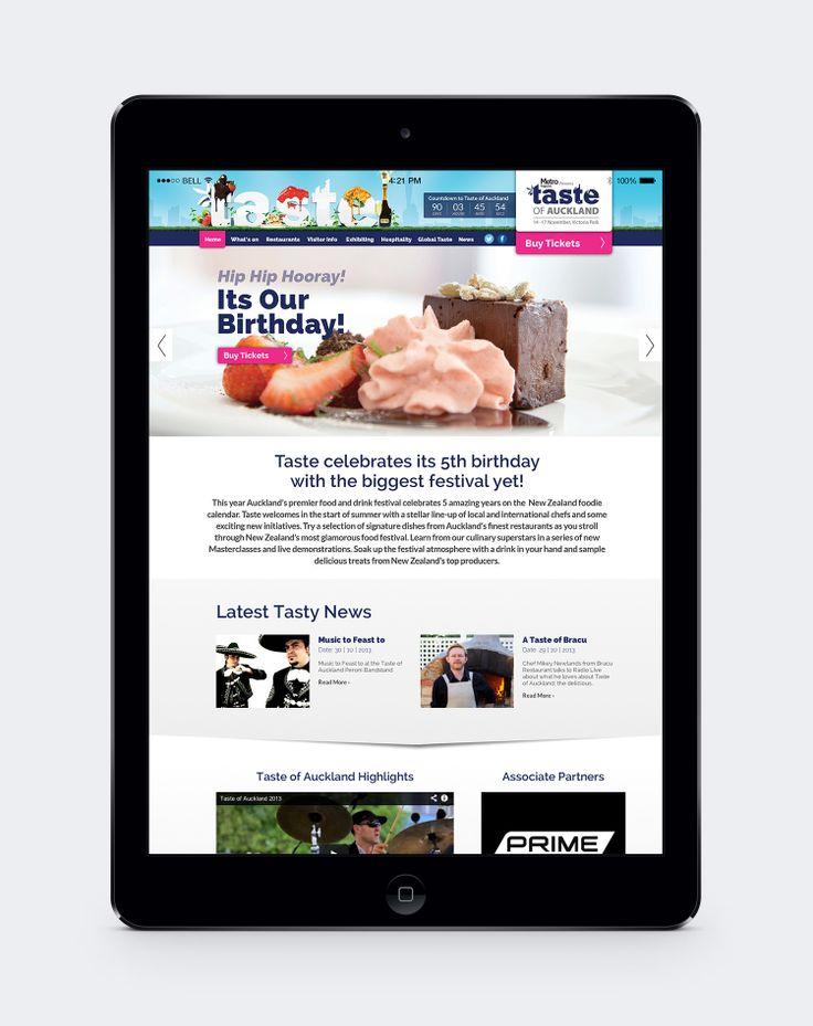 Taste of Auckland Website Design by Onfire Design  http://www.tasteofauckland.co.nz/
