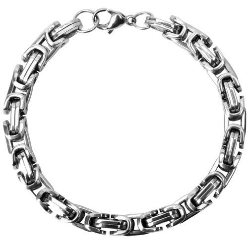 8.5 Inches - Inox Jewelry Byzantine Style 316l Stainless Steel Chain Bracelet INOX Jewelry. $46.50