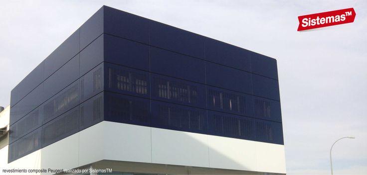 Revestimiento de composite para Concesionario #Peugeot