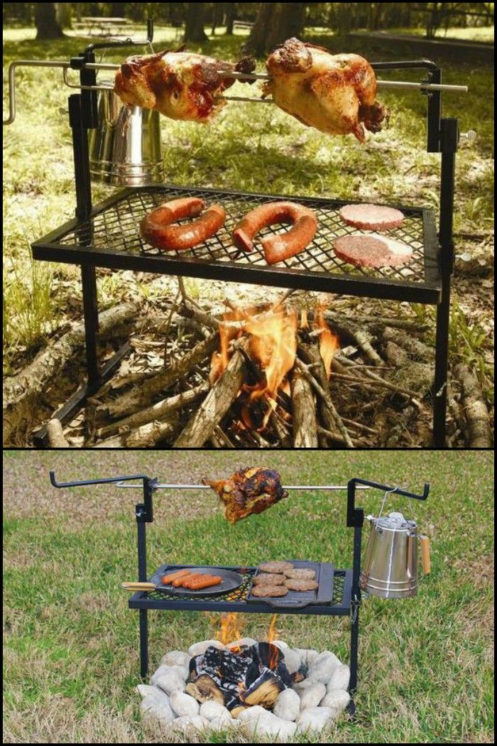 Make Delicious Meals on This Portable Rotisserie Grill and Spit on your Outdoor Adventures