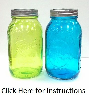 DIY Tinted Mason Jar Tutorial #masonjarcrafts #benfranklinonline#@Meagan Tedder
