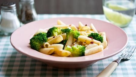 Healthy and inexpensive broccoli and pasta dish with yummy anchovy and chili flavours.