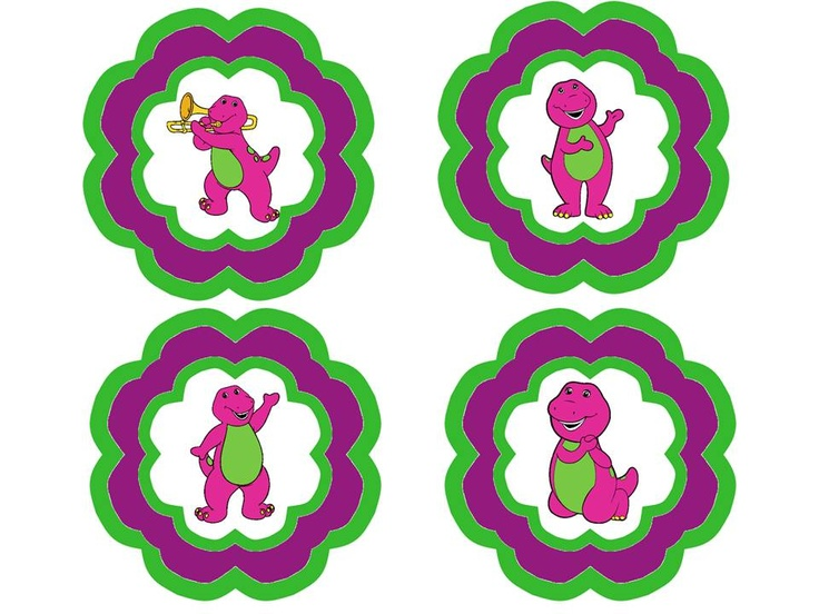 Free Printables: Barney Birthday Signs/Labels!