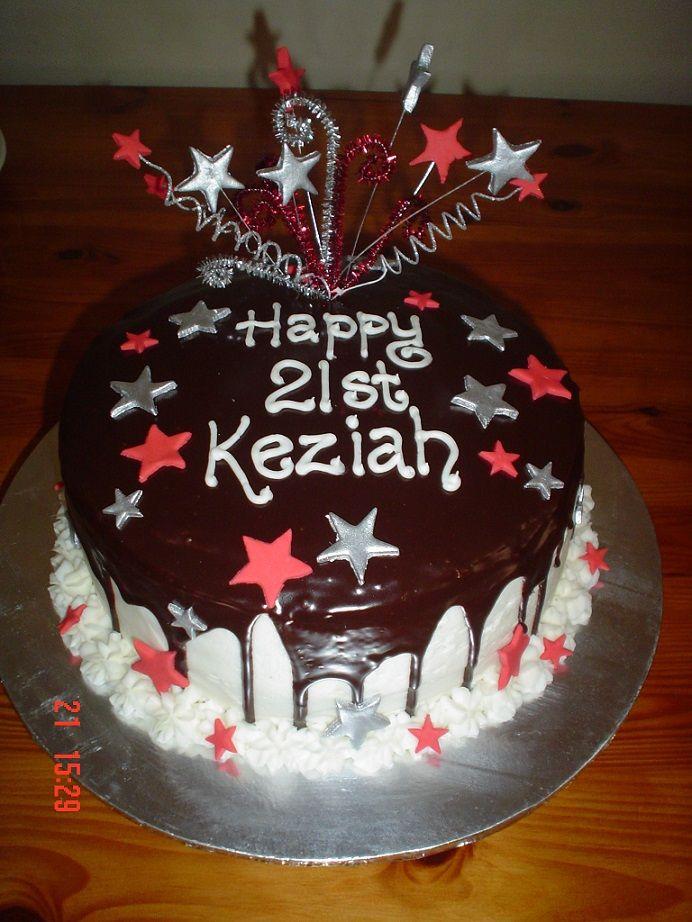 Ganache 21st Cake