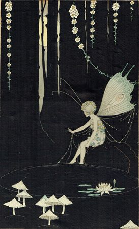 Cover of catalogue from 1985 exhibition  of Margaret Clark's work. CLARK, Margaret. The Fairy by the Pond. n.p. [192-?]. Ink and watercolour