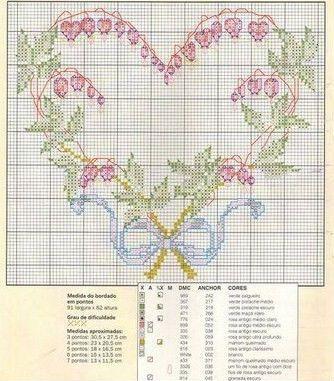 Cross-stitch Bleeding Hearts Vine Heart... Gallery.ru / Фото #11 - KWIATY 2 - aaadelayda