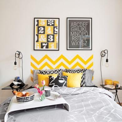 Adhésifs déco en renfort dans la chambre - Chambre - Inspirations - Décoration et rénovation - Pratico Pratique
