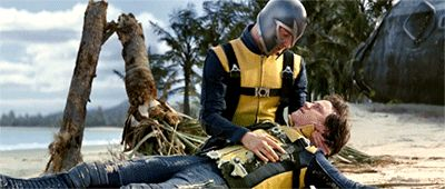 "fassymioamor: ""Michael Fassbender and James McAvoy in 'X-Men: First Class' (2011). Dir. Matthew Vaughn. My gifs. """