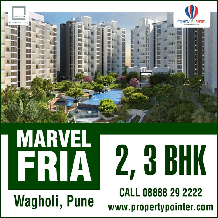 Marvel Fria Wagholi Pune is built by the Marvel Realtors who have been in this business for a long time. Marvel Fria Wagholi Pune residential project is built over an area of 26 acres and consists of 2 BHK and 3 BHK luxurious flats respectively. For all the details please visit at http://www.propertypointer.com/marvel-fria/wagholi/pune