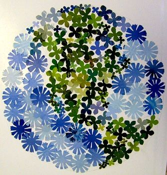 Use paper punches to assemble an Earth day picture!  Use recycled magazines to collect your colors...