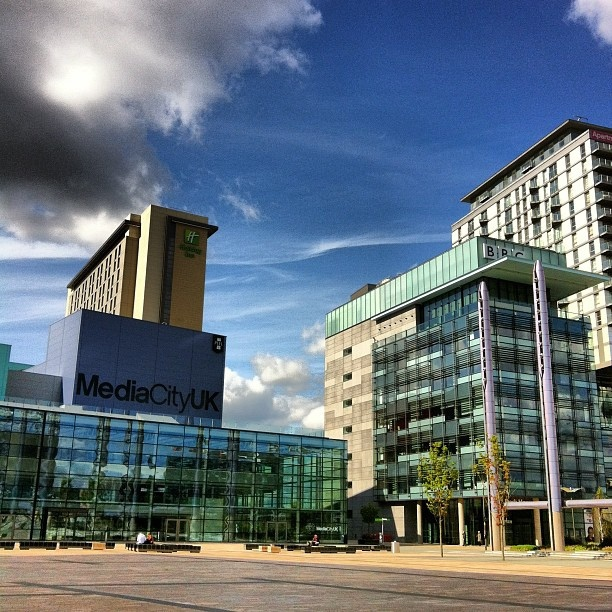 Media City Uk Salford Manchester Lots Of Glass And Shininess