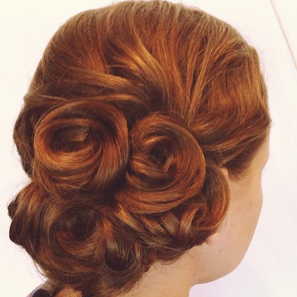 Bridesmaid style-- hair by Chenoh #bridal #updo #bridalhair #blackorchidsalon