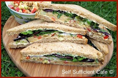 Self Sufficient Cafe: Spring into Action - Part 2 - Meditteranean Chickpea Spread