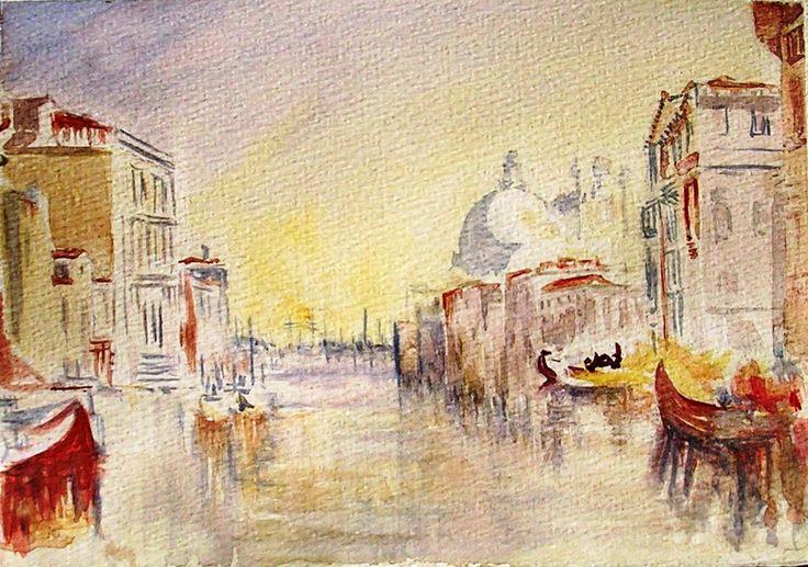 Dibujo, acuarelas de Turner. Venecia. Adición.