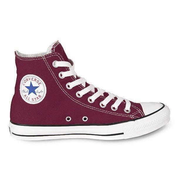 Converse Chuck Taylor All Star Trainers Men's Women's High Maroon Chucks Shoes