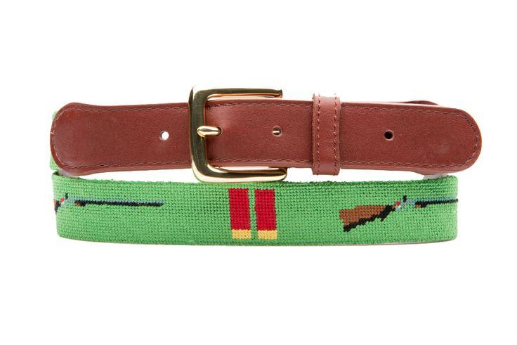 Tucker Blair - Shotguns and Shells Needlepoint Belt, $115.00 (http://www.tuckerblair.com/shotguns-and-shells-needlepoint-belt/)