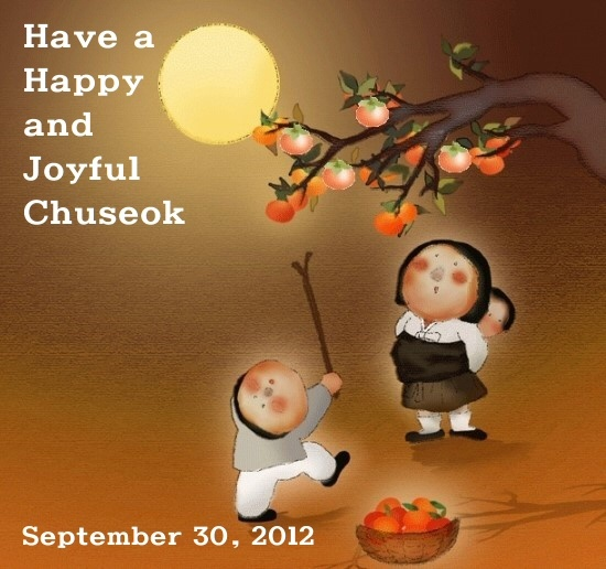 Happy Chuseok! May you enjoy the traditions and celebrations of Chuseok!