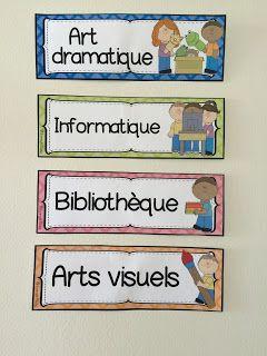 French Buzz - ressources en français: Étiquettes pour décorer la classe