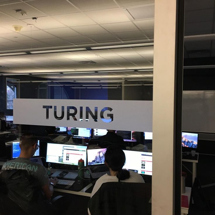 """Our new cohort's remodeled classroom is the """"Turing"""" room. We named it after Alan Turing who was a computer scientist, mathematician, and cryptanalyst who played a main role in cracking the code that resulted in the defeat of the nazi army in WWII. His innovations in machine learning led to the development of the computer as we know it today. #Alanturing #firstday #enigma #machinelearning #codebreaker #dev #development #webdevelopment #coding #ruby #vim #ror #rubyonrails #buildtheweb"""