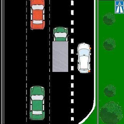 2 Mag je rechts van de blokmarkering inhalen?