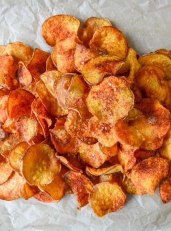 Make these homemade barbeque sweet potato chips for a yummy after school snack