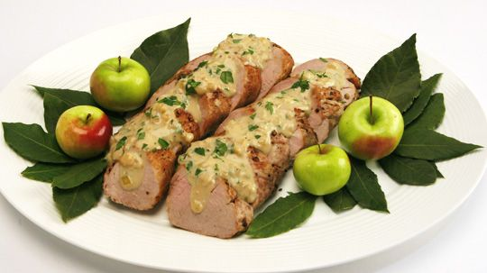 Pork Tenderloin with Creamy Cider-Herb Sauce - Recipes - Best Recipes Ever - Understated and casually elegant, this easy weeknight meal is also suitable to serve when company comes over for dinner....