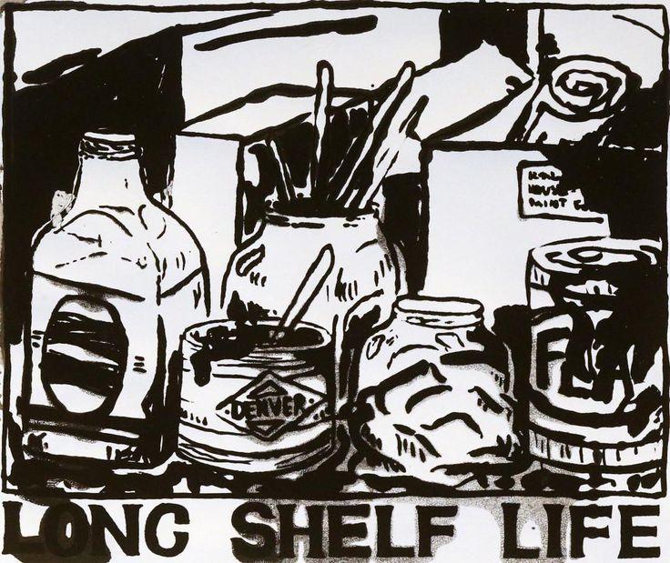 Long Shelf Life #2 by Sally Santana #art #artist #painting #drawing - Beauton Art Gallery - http://beautonart.com   http://beautonart.dk