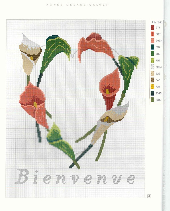 Beautiful calla lily pattern.