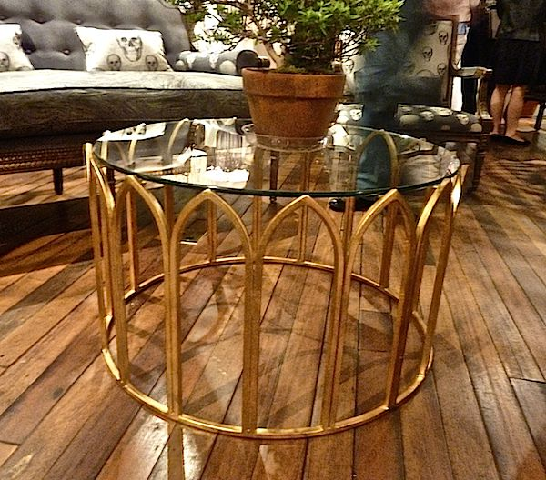 Cathedral table by Curry and Company. High Point Market Spring 2014 Finds We Love at Design Connection, Inc.   Kansas City Interior Design #HPMkt #HPMkt2014 #InteriorDesign http://www.DesignConnectionInc.com/Blog