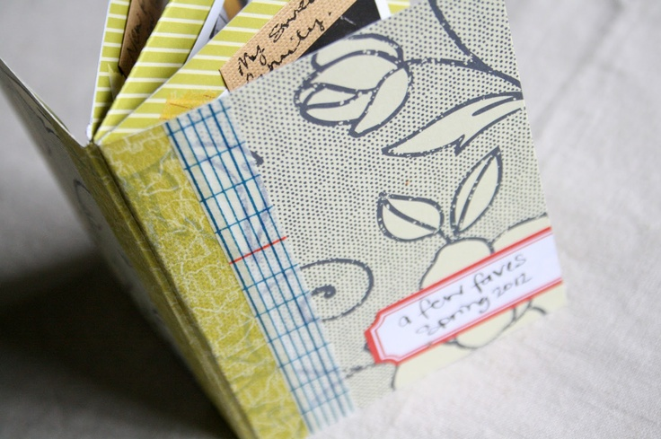 HOW TO: Mini-album using just one sheet of Amy Tangerine patterned paper. (via thecreativeplace.blogspot.com) #amytangerine #paper