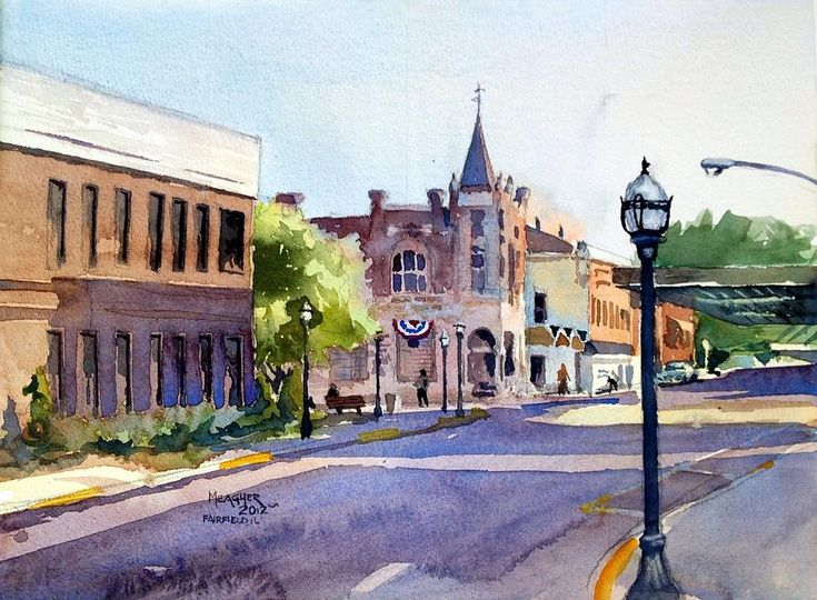 Click here to see this watercolor painting by Spencer Meagher. This painting features a quaint view of small town bank. Prints available. Plein Air Painting - Fnb Past And Present by Spencer Meagher (scheduled via http://www.tailwindapp.com?utm_source=pinterest&utm_medium=twpin)