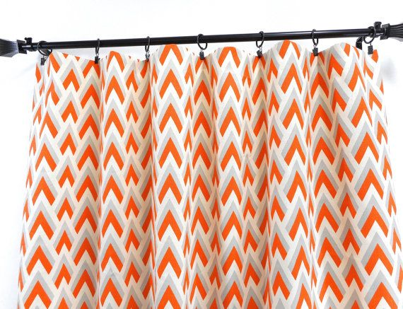 Mandarin Panel Curtain. 2 panel curtain. Mandarin gray and natural, Window Treatment.curtain.cotton.unlined.Choose  your sizes.cm
