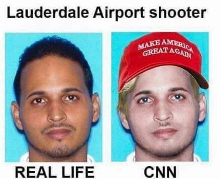 CNN 's version of the FT Lauderdale Airport shooter vs real life!