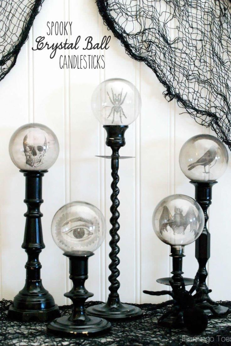 1316 best Halloween Ideas, Recipes  Cards images on Pinterest - black and white halloween decorations