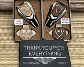 GROOMSMEN Gifts Set,Groomsmen Gift Box Ideas,Personalized Engraved Golf Ball Marker,Groomsman Usher Best Man Gift,Father of Bride Groom Gift