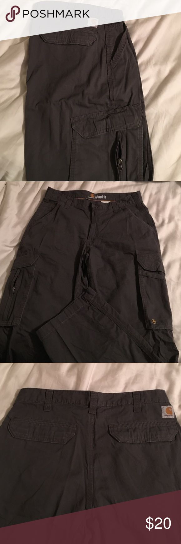 Carhartt Cargo pant- Relaxed Fit Gray Carhartt Cargo style pant. EXCELLENT CONDITION!!! Carhartt Pants Cargo