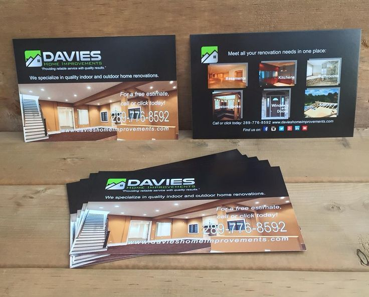 Renovation company advertisement design. Crisp and clear to showcase their outstanding work.