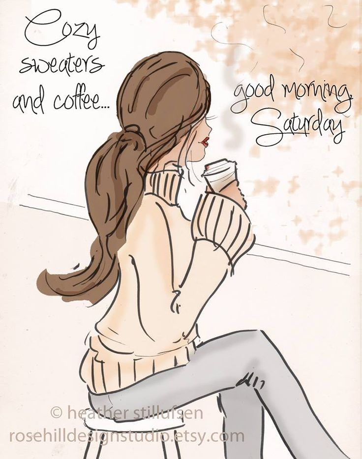 Cozy sweaters and coffee.... good morning Saturday