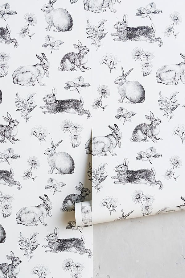 Slide View: 1: Toile Lapin Wallpaper