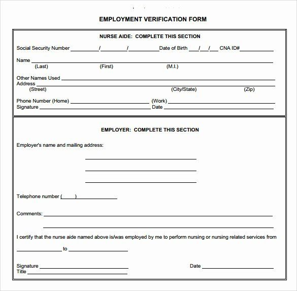 Self Employment Verification Form Inspirational Employment Verification Form 8 Download Documents I Employment Form Doctors Note Template Business Plan Outline