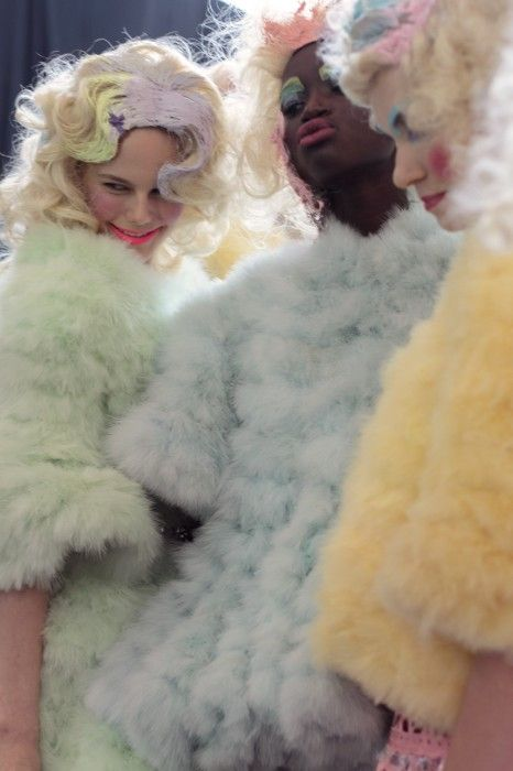 Meadham Kirchhoff Spring 2012 my favourite designers of all time rainbow coats fur