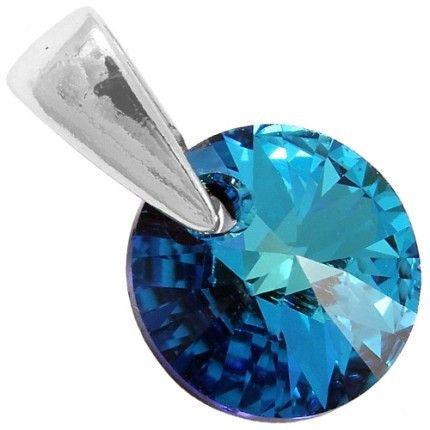 Pandant cu cristale albastre http://www.bijuteriifrumoase.ro/cumpara/rivoli-p-8-2734