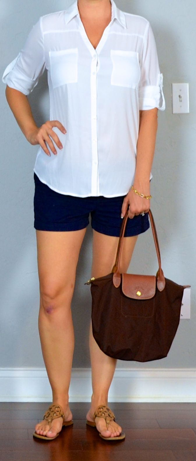 napa/san francisco outfit post: white portofino shirt, navy shorts