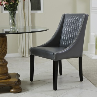 @Overstock - With its wide stance and overall soft padding, the Mandolin quilted grey leather chair combines modern and classic elements to create one stunning chair. The chair features both quilted leather and accent studs. http://www.overstock.com/Home-Garden/Mandolin-Quilted-Grey-Leather-Chair-Single/7294615/product.html?CID=214117 $206.10