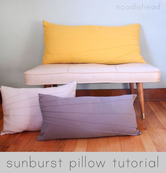 sunburst pillow tutorial