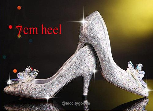 Stiletto Cinderella Crystal Shoes-shoes-Tac City Goods Co. https://www.taccitygoods.com/products/stiletto-cinderella-crystal-shoes