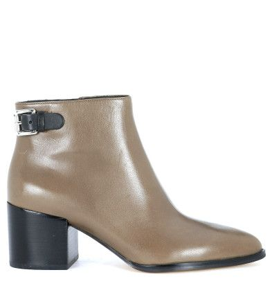 MICHAEL KORS Tronchetto Saylor Ankle Michael Kors In Pelle Grigia. #michaelkors #shoes #boots