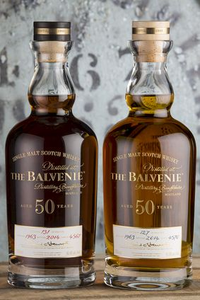 The two iterations of William Grant & Sons The Balvenie Fifty