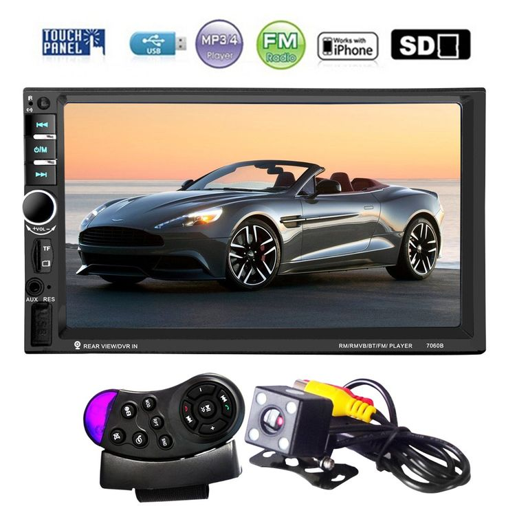 Buy US $83.79  7060B 7 Inch Bluetooth TFT Screen Car Audio Stereo MP4 Player 12V Auto 2-Din Support AUX FM USB SD MMC Support for JPEG,WMA,MP5  #Inch #Bluetooth #Screen #Audio #Stereo #Player #Auto #Support #JPEGWMAMP  #BlackFriday