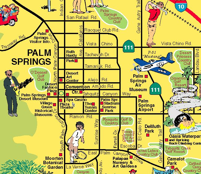 Palm Springs map